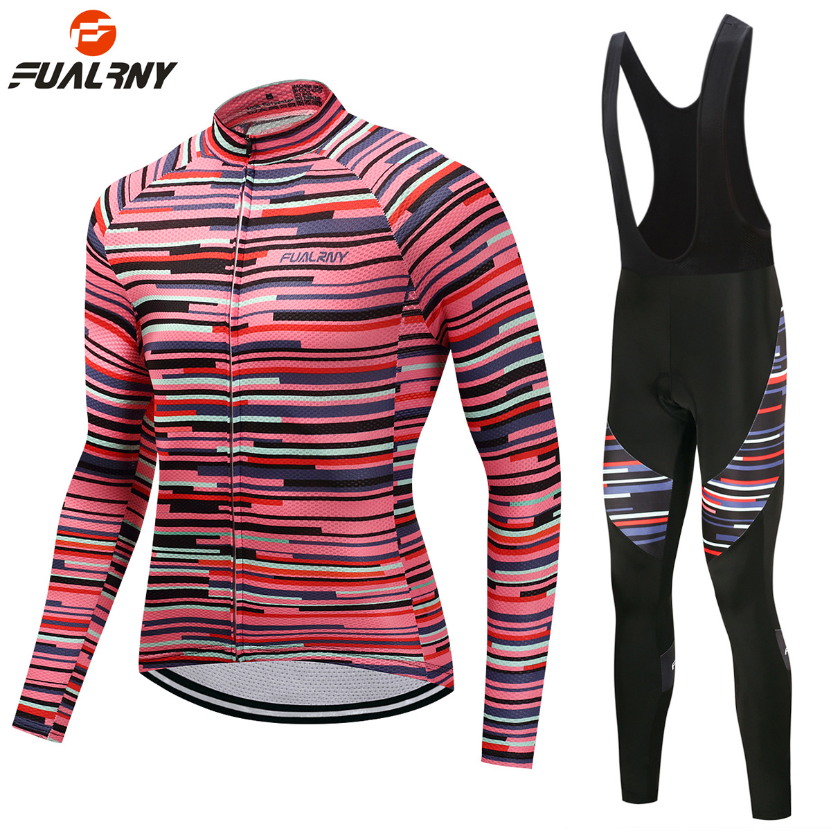 FUALRNY New Pro Team Men Womens Long Sleeve Cycling Jersey Set Autumn Winter MTB Racing Bicycle Clothing Uniform Ropa Ciclismo<br>