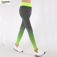 DISSIMILAR Women Fitness Ombre Pants Activewear Slimming Seamless Leggings High Rise Workout 6 colors(China)