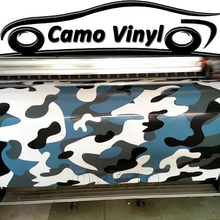 Car Styling Blue Urban Camo Vinyl PVC Wrap Auto Body Cover With Bubble Free For Vehicle Wraps