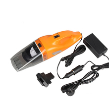 Color Orange Portable Car Vacuum Cleaner wet and dry dual use with power 100W 12V absorb Car Waste(China)