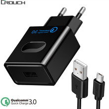 Buy Crouch USB Charger Quick Charge 3.0 Fast Charger QC3.0 QC2.0 USB Adapter 18W Portable Wall Charger Mobile Phone USB Chargers for $1.19 in AliExpress store