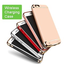 Charger Case for iPhone 6 6S 6plus 6Splus Backshell Wireless Power Bank Case External Back up Battery Case for i6 i6s i6plus(China)