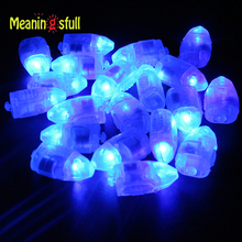 Meaningsfull 50pcs/Lot Blue Led Mini Lamps Balloon Lights For Paper Lantern Balloons Casamento Party Birthday Hallloween mariage