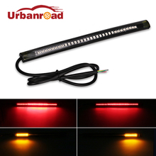 1PC Universal Flexible Brake Tail Stop Light Led Strip Motorcycle Led Tail Light Turn Signal Brake License Plate Strip Flexible(China)
