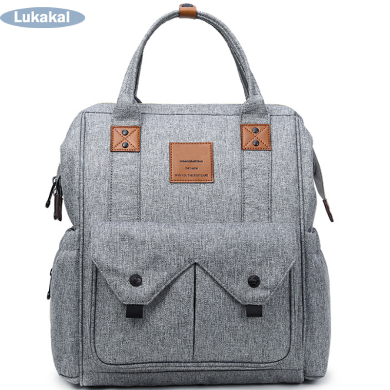 Large Capacity Mummy Maternity Diaper Bag BackPack On Stroller Baby Nappy Bag Multifunctional Mummy Bag Nursing For Baby Care<br>