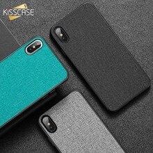 KISSCASE Fabric Leather Phone Case Xiaomi Pocophone F1 Mi 8 A1 A2 Lite Retro Cloth Leather Case Redmi Note 5 6 Pro Cover
