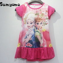 Anna Elsa Dress Toddlers Girls Children Clothing Summer Baby Pajamas Costume Princess Nightgown Vestidos Infantis Clothes