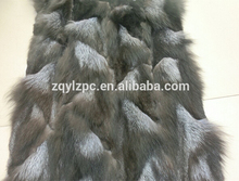 Wholesale lowest price silver fox fur blanket/ fur pelt(China)