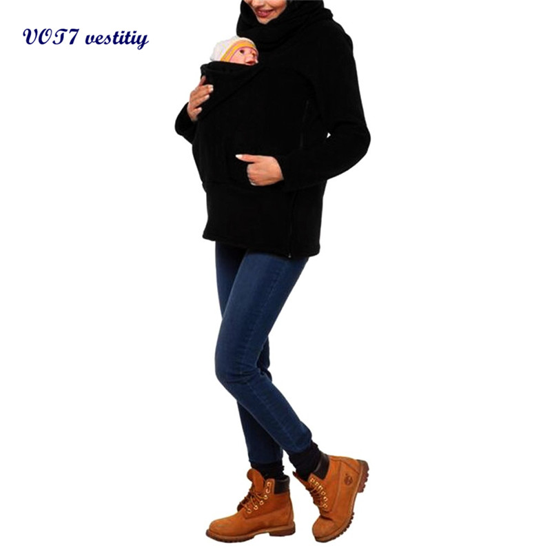Zipper winter coat VOT7 vestitiy Baby Carrier fashion Jacket Kangaroo Winter Maternity Outerwear Coat Pregnant Oct 31Одежда и ак�е��уары<br><br><br>Aliexpress