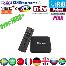 Best IPTV Server TX5 Pro Android 6.0 2G/16G Europe IPTV account Arabic French IPTV Box Sky Italy UK DE Spain Sweden HD Player