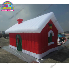 Inflatable Christmas Bouncy Castles Christmas Ornaments Christmas House With Air blower(China)