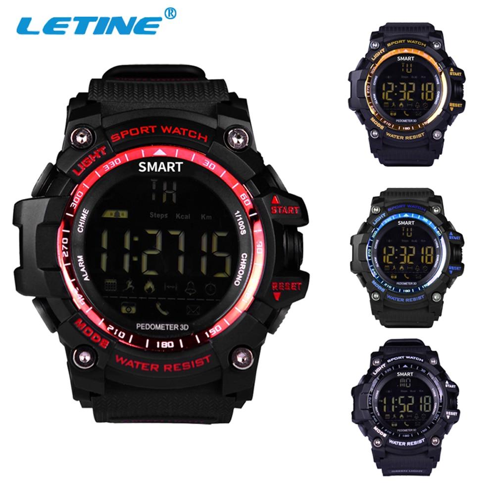 Letine Waterproof Men Sports Smart Watch Wristwatc...