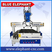 Blue Elephant ELE 1530 Shandong Multi Head Cnc Main Door Wood Carving Design Woodworking Router Machinery for Cylinders(China)