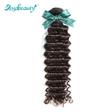Rosabeauty Deep Wave Virgin Hair Weave Bundles Unprocessed Indian Curly Human Hair Weaving Double Wefts Shipping Free