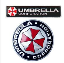 3D Aluminum Umbrella corporation car sticker FOR /VW/mitsubishi/ /citroen/skoda/toyota/CRUZE/FORD/Fiat 500