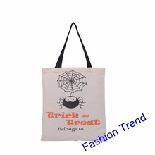 1000pcs/lot hot selling new 4 styles Halloween bags kids candy gift bags cotton canvas drawstring bags for adults & kids