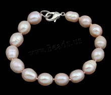 Freshwater Cultured Pearl Bracelet Colorful jewelry Freshwater Pearl Sterling Silver clasp