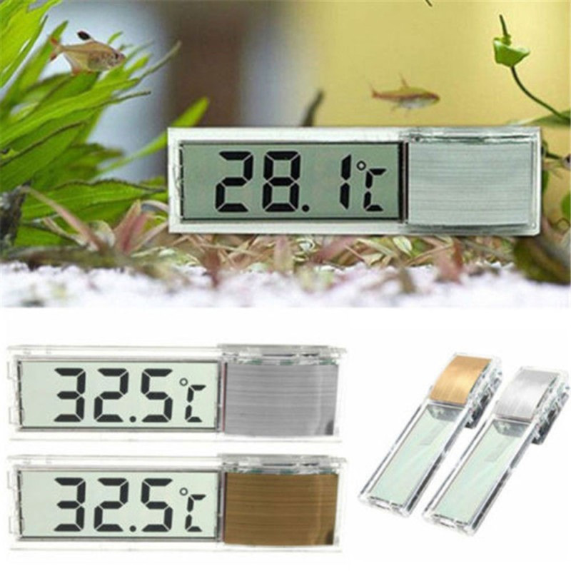 LCD 3D Crystal Digital Electronic Temperature Measurement Multi-Function Fish Tank Aquarium Thermometer 6