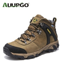 Waterproof Hiking Boots Men Leather Outdoor Shoes Women Top Quality Warm Leather Snow Shoes For lovers B2590