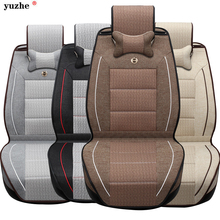 Linen Fabric Universal Four Seasons Car Seat covers Full Set for General 5 seat VW MG Toyota Mazda Buick Audi FORD CADILLAC BMW(China)
