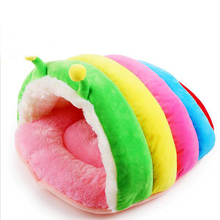 New Arrival Rainbow Color Pet Dog Cat kennel Cute Bug Type Dog Cat Houses Indoor Small Fleece Dog Cat Bed Puppy Dog Cat Cave