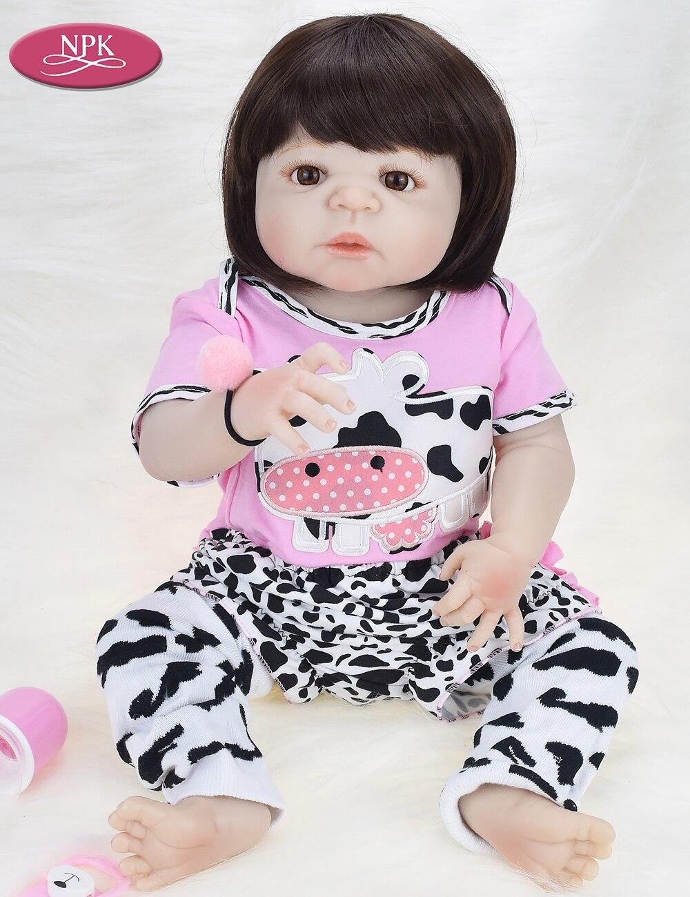 NPK Real 57CM Full Body SIlicone Girl Reborn Babies Doll Bath Toy Lifelike Newborn Princess Baby Doll Bonecas Bebe Reborn Menina (3)
