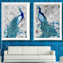 32x45cm DIY 5D Diamond Embroidery Peacock Painting Cross Stitch Embroidery Craft Kit  for Home Christmas Decor