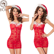 Buy Leechee Y122 women sexy lingerie lenceria sexo temptation cosplay pajamas tight Christmas lady erotic underwear porn costumes