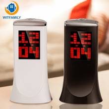 New Creative Projection Clock Alarm Clock 180 Degree Rotation Projection Thermometer Countdown Electronic with Blue Backlight