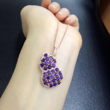 2017 Qi Xuan_Purple Blue Stone Fashion Collier Pendant Necklace_Real Necklace_Quality Guaranteed_Manufacturer Directly Sales(China)