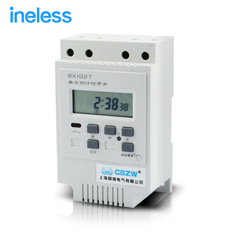 SX102T 220V  Single and double cycle countdown timer microcomputer time control switch time controller delay switch<br>