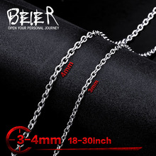 Wholesale Man's Fashion Jewelry Price Stainless Steel O Style Chain Choker Necklace BN1027 Alibaba Express(China)