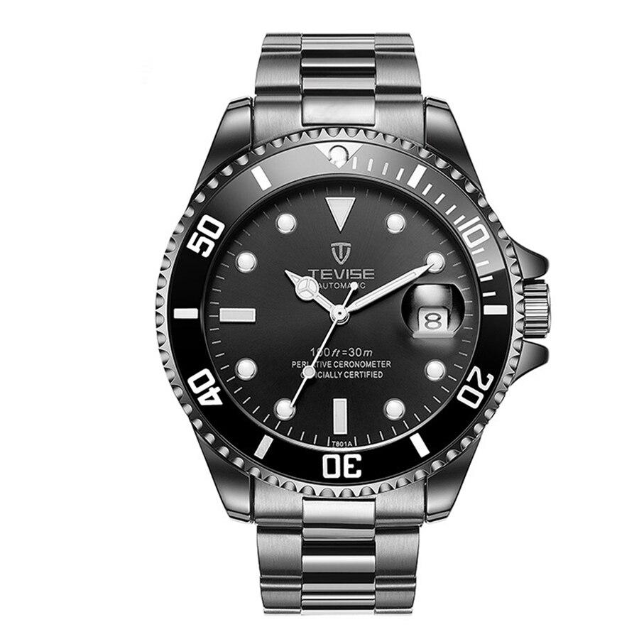 Business Men Automatic Mechanical Stainless Steel Calendar Wrist Watch<br>