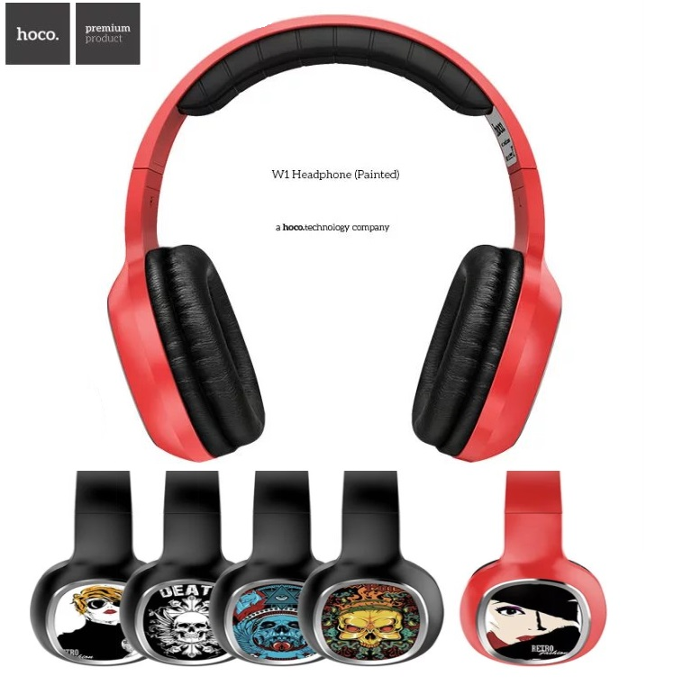 HOCO Brand W1 Painted Series Cool Fashion Headphone Headset Earphone With Mic 3.5mm Plug For iPhone/Samsung Universal<br>