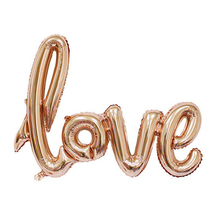 New 1PCS Anniversary Wedding Valentines Decoration Balloon Ligatures LOVE Letter Foil Balloon Party Supplies 4 Colors 2Sizes
