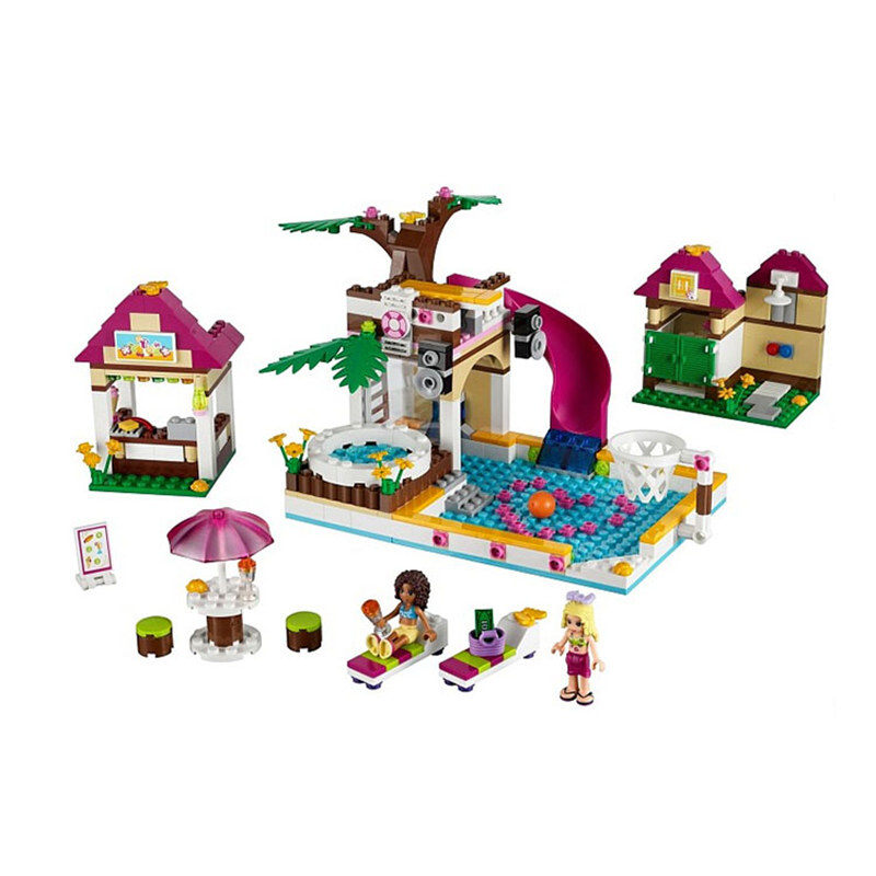Bela 10160 Building Blocks Set Friends 442 Pcs Figures DIY Swimming Pool Brinquedos Building Bricks Toys for Children<br><br>Aliexpress