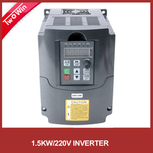 220V 1.5KW  Inverter 1.5kw HJ VFD Spindle Inverter  Single Phase input and 220V 3 Phase Output Frequency Converter / Adjustable