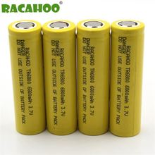 RACAHOO 2 4PCS 18650 Rechargeable Battery TR6800 3.7v 6800mAh For LED Diving Flashlight Torch 18650 batteries