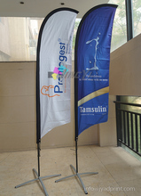 2.5M Custom Feather Flags with Both side printing, Outdoor Advertising Display Beach Banner,Cross base ,Free shipping