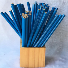 20pcs / lot Blue Cheap Children bulk HB environmentally pencil drawing students to write logs hexagonal wooden pencil