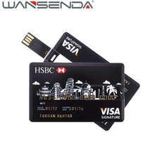 Hot Sale Credit Card USB U Disk Pen Drive USB Flash Drive USB Storage Computer U Disk Memory Thumb 8G 16G 32G for PC(China)