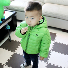 Hot Sale 2017 Fall Winter Little Boys Solid Casual Wadded Coat Baby Kids Cotton Padded Clothes Jacket Children's Outerwear G992