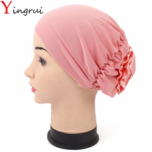 11Colors Holiday Stretchy Turban Headband Head Wrap Elastic Band Women India Caps Floral Wimple For Ladies(China)