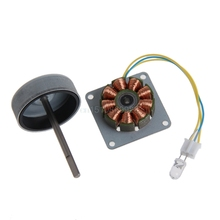 3 Phase Micro Brushless Generator Mini Wind Hand Generator DIY Motor 3-24V AC(China)