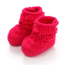Pure hand-woven and crochet craft Baby soft soles toddler shoes Free size Suitable for 1-18M boys and girls Comfortable and warm