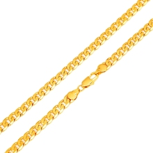 "2017 Hot Sale Men Copper 7mm 60cm 24"" Gold-color Hip Hop Miami Cuban Curb Chain Necklace Jewelry Gift(China)"