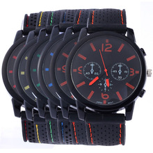 Cool Men Watch Casual Brand Clock Fashion Men's Military Quartz Clock Silicone Strap Belt Big Dial Watches Men Wristwatches LL