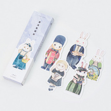 30 pcs/box Cute Rabbit paper bookmark stationery bookmarks book holder message card school supplies papelaria