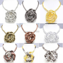 Drop Shipping Retail 5mm 90cm Mixed Colorful Iron Bendable Flexible Twisted Snake Necklace 13 Colors Available,1pcs/pack(China)