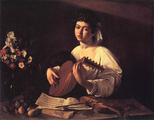 100 %hand-painted famous artists painting reproduction by Caravaggio handmade canvas painting The-Lute-Player